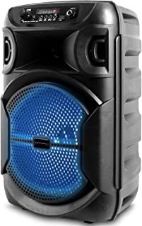 $44 » Sponsored Ad - Technical Pro 8 Inch Portable 500 watts Bluetooth Speaker with Woofer & Tweeter, Festival PA LED Speaker wi...