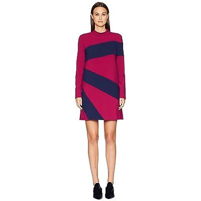 Nicole Miller Color Blocked Dress (Rose Pink/Navy) Women