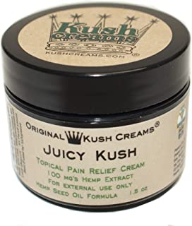 Kush Creams - Juicy Kush - Emu Oil & Hemp Oil Infused w/ 30+ Herbal Ingredients - Topical Pain Relief Cream with Aromatherapy - Award Winning - Doctor Recommended - Lab Tested - 1.5 oz Jar