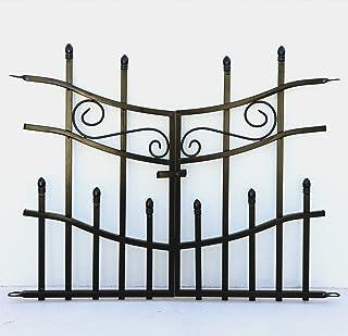 ガーデンガーデン 門扉付きの柵が作れるロゼッタシステムフェンス ゲート 1組 アイアン ブラック IPN-7018G-BLK