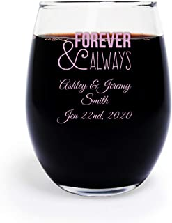 Best etched stemless wine glasses favors Reviews
