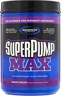 Gaspari Nutrition SuperPump Max, Grape Cooler, 1.41 lbs (640 g)
