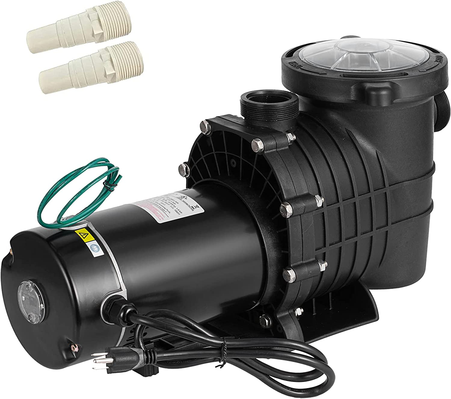 PRIBCHO 1.5 HP Max 43% Los Angeles Mall OFF Pool Pump Grou Inground Flow High Above