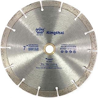 Kingthai 180mm 乾式 ダイヤモンドカッター ダイヤモンドブレード コンクリート 石材用