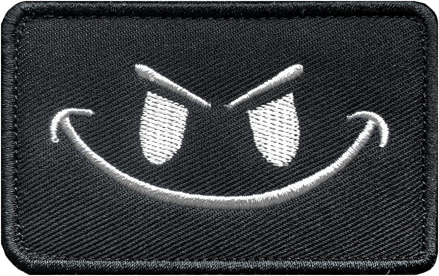Antrix Tactical Max 67% OFF Black Funny Smile Emblem DIY Military Surprise price Happy Face