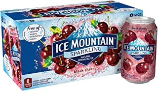 Ice Mountain Sparkling Water, Black Cherry, 12 oz. Cans (8 Pack)