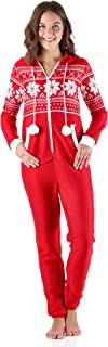 Frankie & Johnny Women's Sleepwear Brushed Fleece Ribbed Non-Footed Onesie Pajama