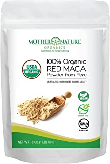 Organic Red Maca Powder 1 lb (Gelatinized for Enhanced Absorption) - Fresh Harvest from Peru - Non-GMO - Vegan - Gluten-Free