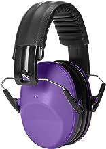 AmazonBasics Kids Ear Protection Safety Noise Earmuffs, Purple