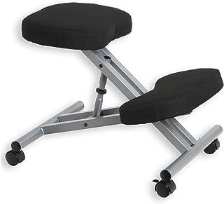 Tabouret ergonomique ROBERT siège ajustable repose genoux chaise professionnelle sur roulettes sans dossier posture droite...