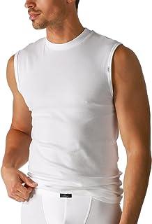 Mey 50537-101 Men's Noblesse White Solid Colour Short Sleeve Top
