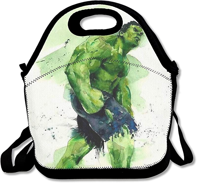 Meirdre Lunch Box Watercolor Hulk Insulated Personalized Tote Lunch Food Bag