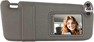 SAILEAD Right Passenger Side Sun Visor for 2007 2008 2009 2010 2011 Toyota Camry and Camry Hybird with Sunroof and Light (Gray, Right Side)