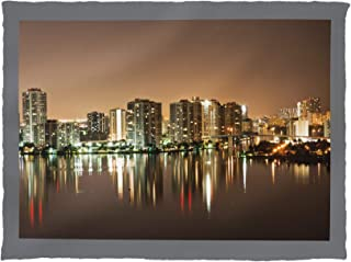 Fort Lauderdale, Florida - Intercoastal Reflection at Night - Photography A-94344 94344 (60x80 Poly Fleece Thick Plush Blanket)