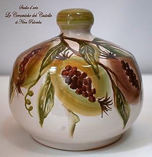 Nascondispugna Linea Melograni per Cucina e Bagno Handmade Le Ceramiche del Castello 100% Made in Italy