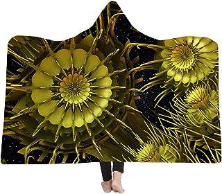 [HomeMiYN]着るブランケット 毛布 フード付きブランケット 幾何学模様 14種類