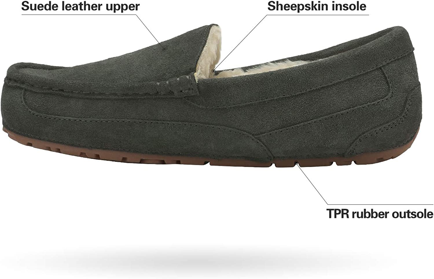 DREAM PAIRS Mens Au-Loafer Moccasins Slippers