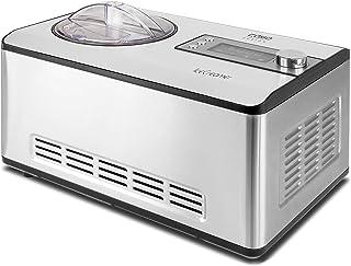 Caso 3298 Ice Creamer-2 en 1 Machine à yaourt design avec technologie de compresseur, produit jusqu'à 2 l Sorbetière en ac...