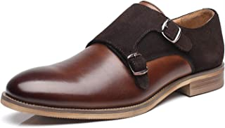 La Milano Mens Leather Double Monk Strap Loafer Brown Size:
