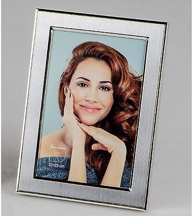 Fotorahmen WEDDING in Herzform für 10x15cm weiß silber Formano Bilderrahmen