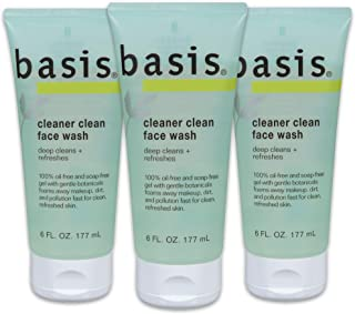 Basis Cleaner Clean Face Wash - Deep Cleans and Refreshes for Normal to Oily Skin, Oil-free, Soap Free - 6 fl. oz. (Pack o...