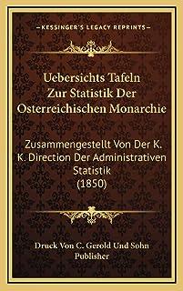 Uebersichts Tafeln Zur Statistik Der Osterreichischen Monarchie: Zusammengestellt Von Der K. K. Direction Der Administrati...