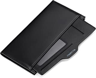 WILLIAMPOLO Mens Wallet Long Slim Money Bag Leather Thin Credit Card Holder Business Card Organizer Bifold Passport Wallet...