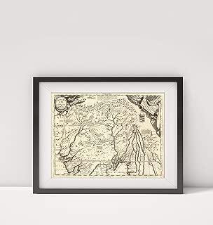 Infinite Photographs 1697 Map of India|Impero del Gran Mogol|Title: Impero del Gran Mogol. Descritto e didicato All' Illu