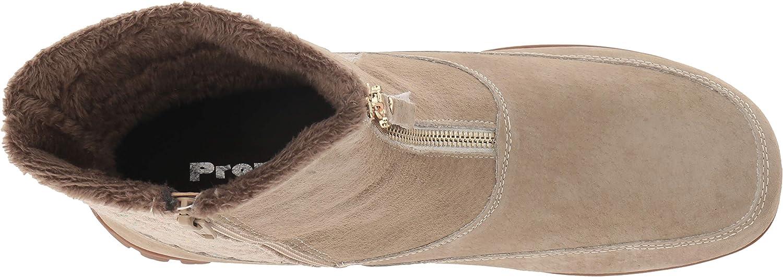 Propet Women's Delaney Mid Zip Calf Boot, sand, 9H 2E 2E US