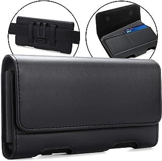 BECPLT for LG Stylo 6 ,LG Velvet 5G, LG V60 ThinQ 5G Holster Black Leather Carrying Cell Phone Holder Belt Clip Holster Ca...