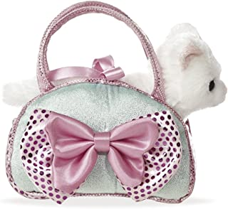 Aurora Fancy Pal Cat Icy Blue With Bow, 8 In, Multi-Colour