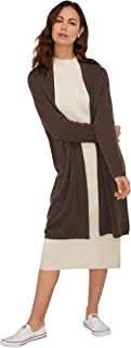 Women's Open Front Long Cardigan 100% Cashmere Straight...