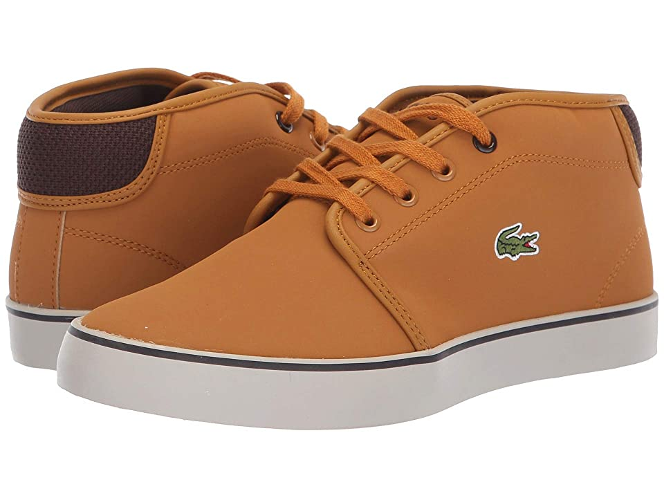 Lacoste Kids Ampthill 318 (Little Kid/Big Kid) (Dark Tan/Dark Brown) Kid