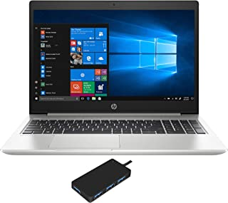 HP ProBook 450 G7 Home and Business Laptop (Intel i5-10210U 4-Core, 8GB RAM, 256GB PCIe SSD + 1TB HDD, Intel UHD Graphics, 15.6