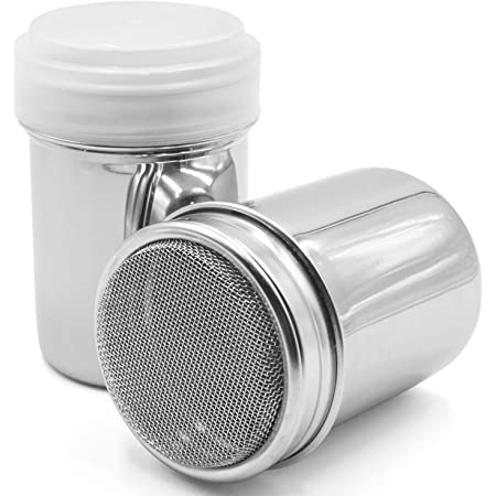 Details about  /Stainless Steel Chocolate sugar salt and pepper shakers Sifter Cocoa