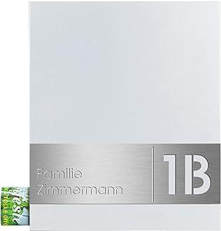 Design-Briefkasten mit Zeitungsfach grau eisenglimmer MOCAVI Box 111 Postkasten