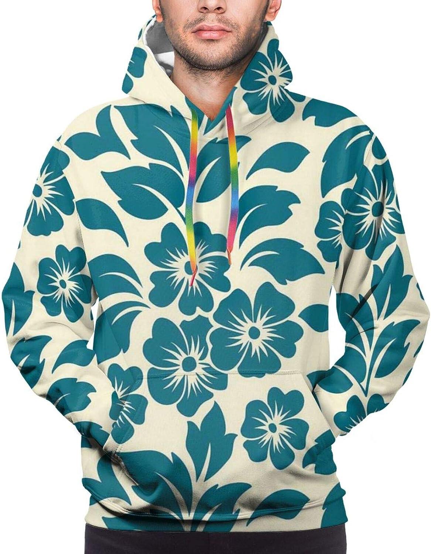 Men's Hoodies Sweatshirts,Flower Petals Blossoms Shabby Chic Fragrance Florets Nature Spring Tropical Design