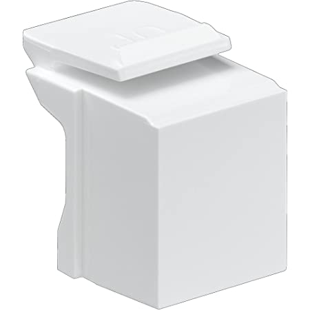 Leviton 41084-BW Blank Quickport Insert, 10-Pack, White