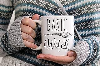 The Red Circle - Halloween Mug, Witch Mug, Witches Fall Mug, Basic Witch, Custom Mug, Halloween Decor, Campfire Mug, Scary Cat, Halloween Cat Coffee Mug 11oz