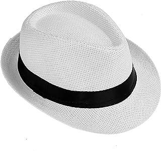 0f96819ccbf37 Faleto Chapeau de Paille Homme Femme Unisex Chapeau été tricoté à la Main  Style Jazz Classique