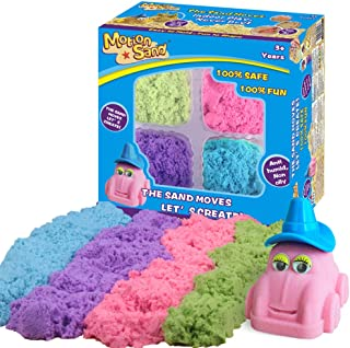 MOTION SAND,2.64lb Refill Play Sand for Kids,4 Mixed Colors Included, Play Sand for All Ages