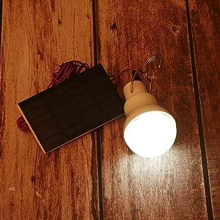Mobestech - Bombilla LED de emergencia con panel solar para exteriores, fiestas, jardines, patios
