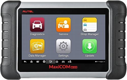 Autel Appareil de Diagnostic MaxiCOM MK808 Scanner OBD2 pour Tous les Systèmes avec Service Réinitialisation du Voyan...
