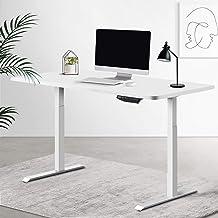 Artiss Standing Desk Motorised Sit Stand Table Height Adjustable Computer Laptop Desks Dual Motors 140cm White