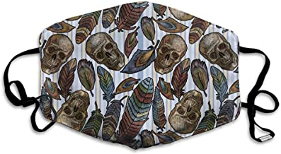 Gtiandewenhuachu Color Feathers Indian Skull anti-...