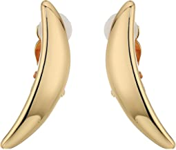Robert Lee Morris - Gold Curved Clip Earrings