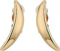 Robert Lee Morris Gold Curved Clip Earrings
