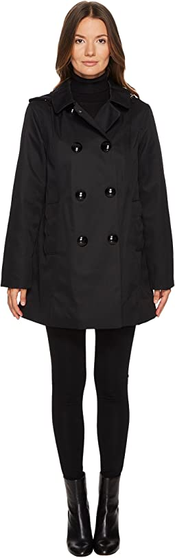 Kate Spade New York - Rain Double-Breasted Hooded Jacket