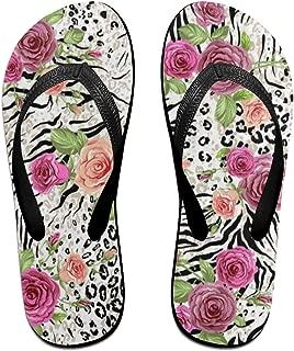 Ladninag Flip Flops Green Palm Leaf Bamboo Womens Summer Slippers Brazil Sandals for Girls