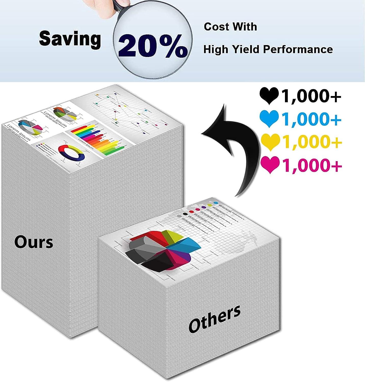 8-Pack (2BK+2C+2Y+2M) Compatible High Capacity 70C00K0+ 70C00C0+ 70C00Y0+ 70C00M0 Toner Cartridge Used for Lexmark CS310dn, CS310n, CS410dn Printer